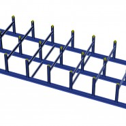 Stanchion Rack Assembled